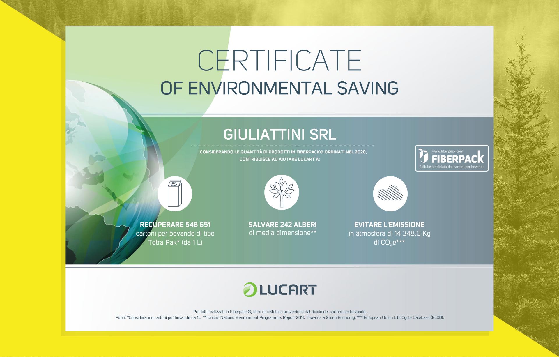 Certificato Ambientale Lucart 2020
